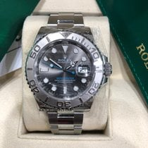 Rolex Platinum Automatic Grey No numerals 40mm new Yacht-Master 40