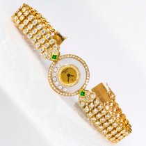 Chopard Yellow gold Quartz 22mm pre-owned Happy Diamonds