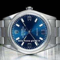 Rolex Air King Precision Acero 34mm Azul Arábigos
