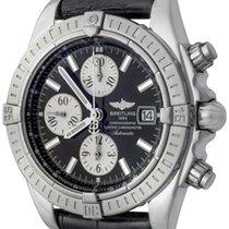 Breitling Chronomat Evolution Stahl 42mm Schwarz Keine Ziffern