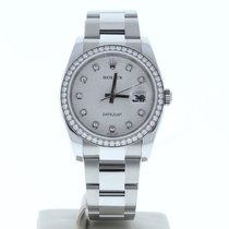 Rolex Datejust 116234 Veldig bra Sølv 36mm Automatisk