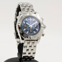 Breitling Chronomat 41 gebraucht 41mm Blau Chronograph Datum Tachymeter Stahl