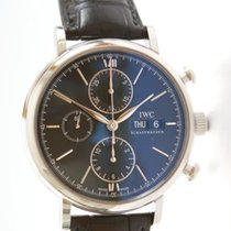 IWC Portofino Chronograph Сталь 42mm Чёрный Без цифр