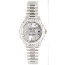 Rolex Lady's Presidential 69179 in 18K White Gold with Custom...