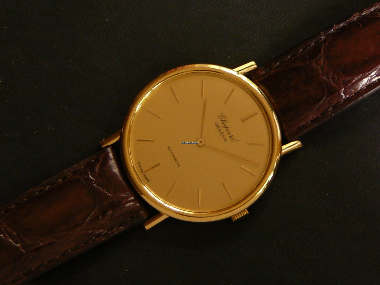 Chopard L.U.C. 18K YG Ultra Thin automatic dress watch, Ø 35 mm