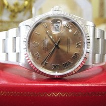 Rolex Oyster Perpetual Datejust Copper Salmon Dial Stainless...
