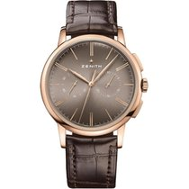 Zenith Elite Chronograph Classic Rose gold 42mm Brown United States of America, Pennsylvania, Holland