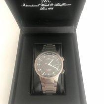IWC GST rare ALARM Watch Black dail titanium 3537