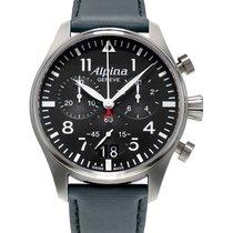 Alpina Startimer Pilot neu Quarz Chronograph Uhr mit Original-Box und Original-Papieren AL-372B4S6