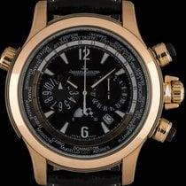 Jaeger-LeCoultre Pозовое золото Автоподзавод Чёрный Aрабские 46mm подержанные Master Compressor Extreme World Chronograph