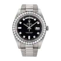 Rolex Day-Date 40 White gold 40mm Black No numerals United States of America, New York, New York