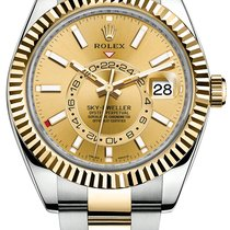 Rolex Sky-Dweller Gold/Steel 42mm Champagne No numerals United States of America, New York, New York