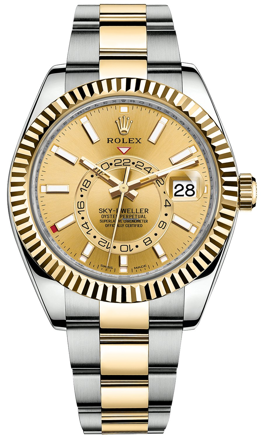 Rolex Sky,Dweller 42MM Two Tone Champagne dial 326933