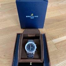 Breitling Navitimer Heritage gebraucht 41mm Schwarz Chronograph Datum Stahl