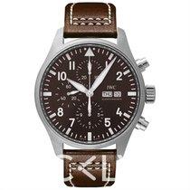 IWC Pilot Chronograph nuevo Automático Reloj con estuche y documentos originales IW377713