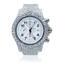Breitling Super Avenger pre-owned 48mm White Date Steel