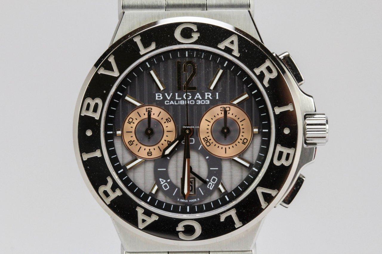 bc3a01dab508 Bulgari Diagono Calibro 303 18K White Gold Bezel sold on Chrono24