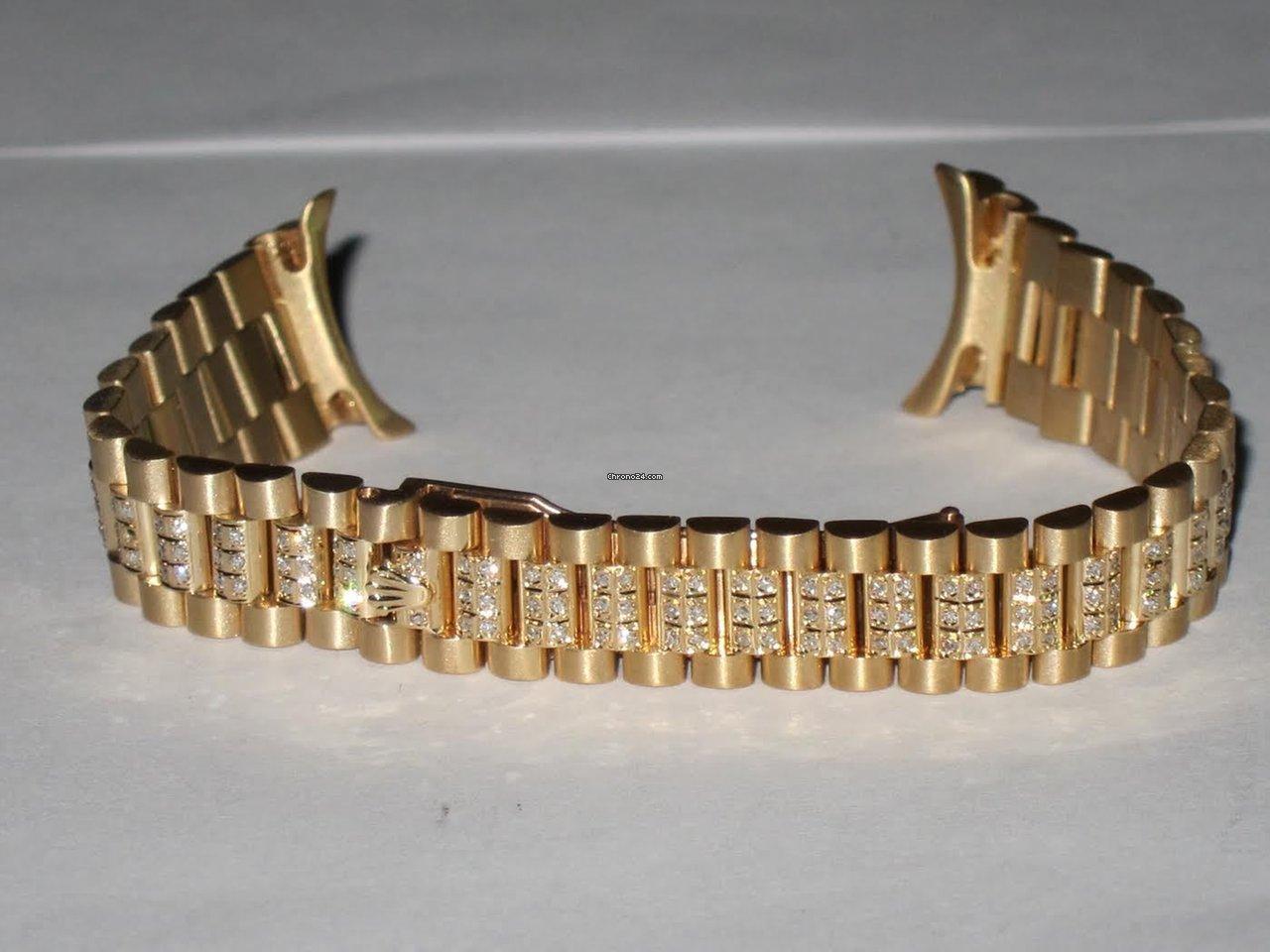 Rolex Datejust President 18K Solid Gold Bracelet Diamonds