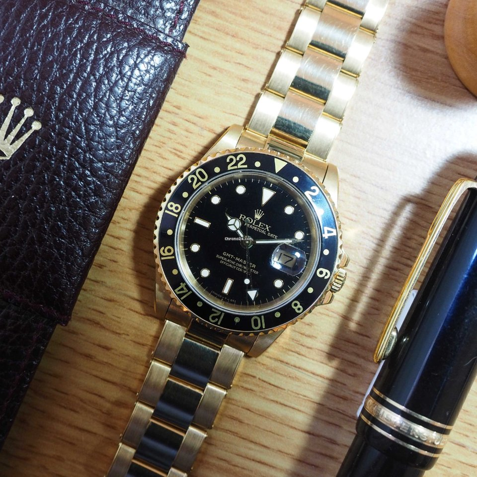 rolex oyster bracelet for sale rolex gmt master ref 16758 18k yellow gold oyster 835