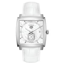 TAG Heuer Monaco Nacre Dial White Strap Diamonds WAW131BFC6247