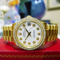 Rolex Datejust Midsize 18k Yellow Gold Diamond President 31mm...