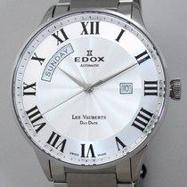 Edox 42mm Automatik 2017 neu Les Vauberts Silber