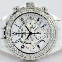 Chanel J12 Diamond Ceramic Chronograph Watch 41mm