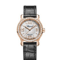 Chopard Rose gold Automatic Silver Roman numerals 30mm new Happy Sport
