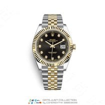 Rolex Datejust Gold/Steel 41mm Black No numerals