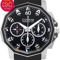 Corum Admiral's Cup Challenger nuevo Automático Cronógrafo Reloj con estuche y documentos originales 986.691.11/F371