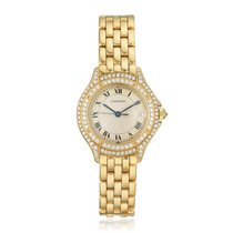 Cartier Cougar Жёлтое золото 26mm Цвета шампань Римские