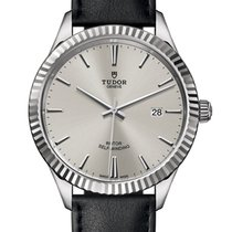 Tudor Style Steel 38mm Silver