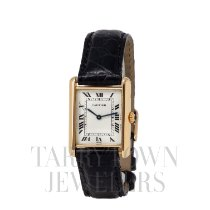 Cartier Tank Louis Cartier Yellow gold 21mm Silver Roman numerals United States of America, New York, Hartsdale