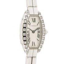 Cartier Lanieres Mini Tonneau 12072ce In 18kt White Gold