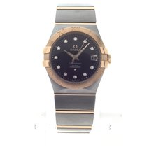 Omega Constellation Ladies Gold/Steel 35mm Brown No numerals