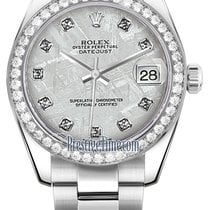 Rolex Datejust 31mm Stainless Steel 178384 Meteorite Diamond...