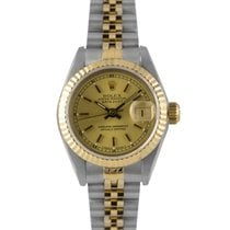 Rolex Datejust Ladies Steel & Gold Champagne Dial 69173, Papers