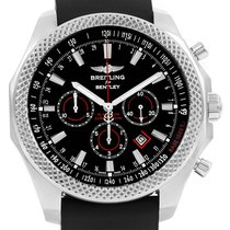 Breitling Bentley Barnato Racing Rubber Strap Watch A25368 Box...