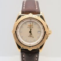 Breitling Lady Wings 18k Yellow Gold MOP Diamond Dial