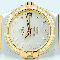 Omega Constellation Ladies Gold/Steel 35mm Silver No numerals