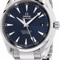 Omega Seamaster Aqua Terra Master Co-axial Blue Dial Watch...