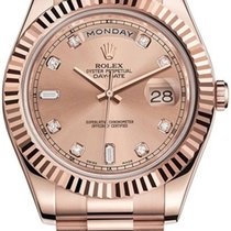 Rolex Day-Date II pre-owned 41mm Pink Date Rose gold