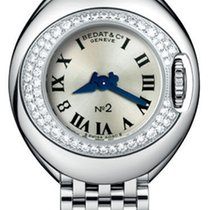 Bedat & Co No. 2 Stainless Steel & Diamond Womens Luxury Swiss...