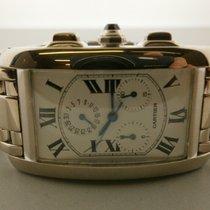 Cartier Tank Americaine M-2312 18k W/g Chronograph
