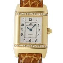 Jaeger-LeCoultre Yellow gold Quartz Silver Arabic numerals 21mm pre-owned Reverso (submodel)