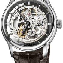 Oris Artelier Translucent Skeleton nuevo Automático Reloj con estuche y documentos originales 734 7684 4051-07 1 21 74FC