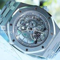 Audemars Piguet Royal Oak Tourbillon Steel 41mm Transparent No numerals