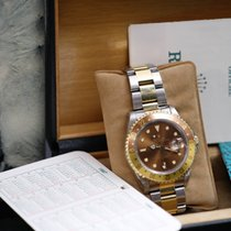 Rolex GMT-Master II 16713 brown tiger eye steel gold box papers