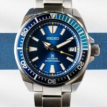Seiko Prospex Staal 44mm Blauw Geen cijfers