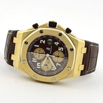 Audemars Piguet Yellow gold Automatic Brown Arabic numerals 44mm pre-owned Royal Oak Offshore
